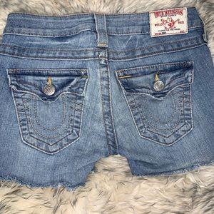 True Religion Brand Cut Off Jean Shorts